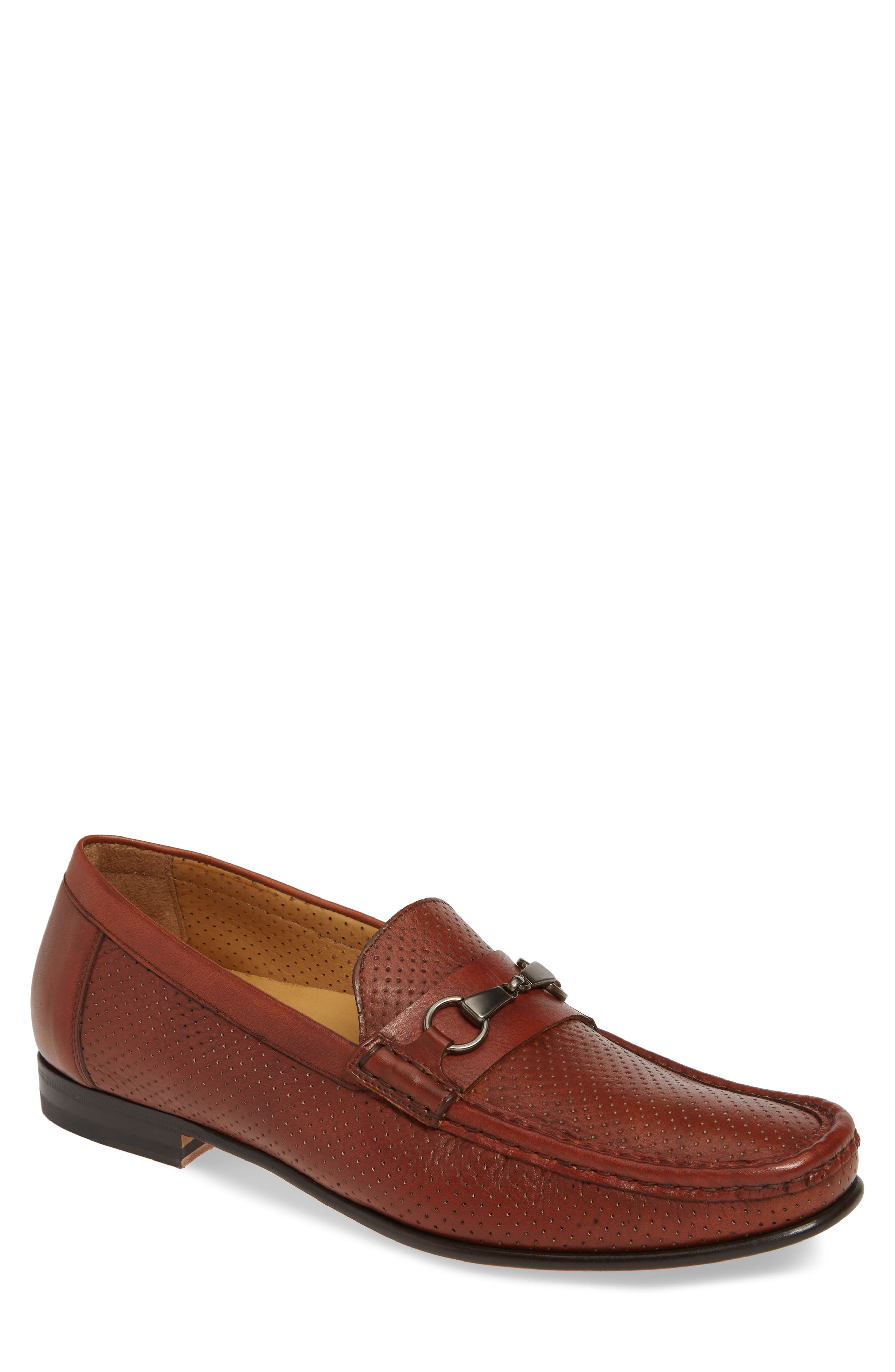 Mezlan Perforated Bit Loafer- Brown
