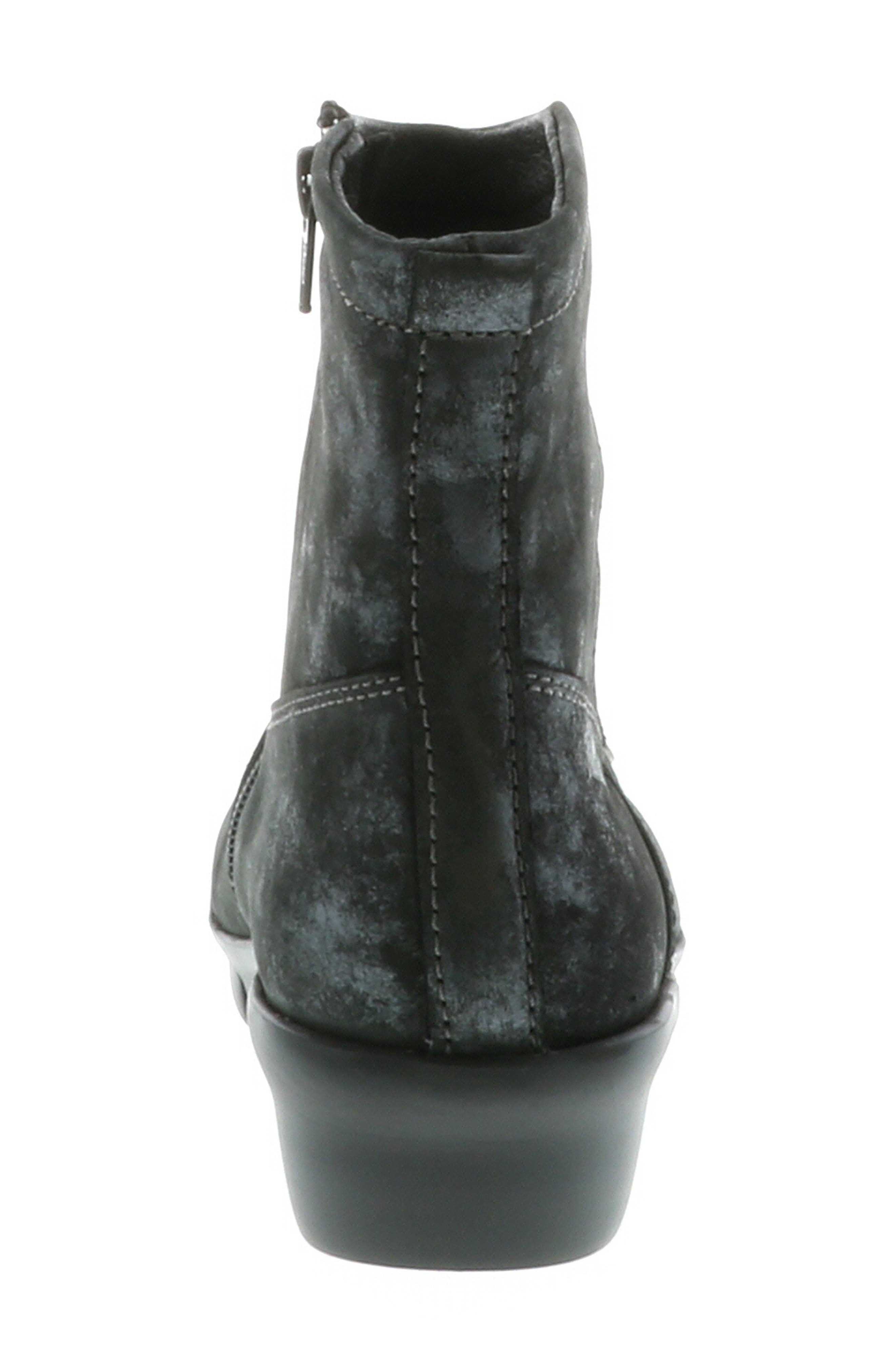 ,                             Omni Wedge Bootie,                             Alternate thumbnail 7, color,                             BLACK NUBUCK LEATHER