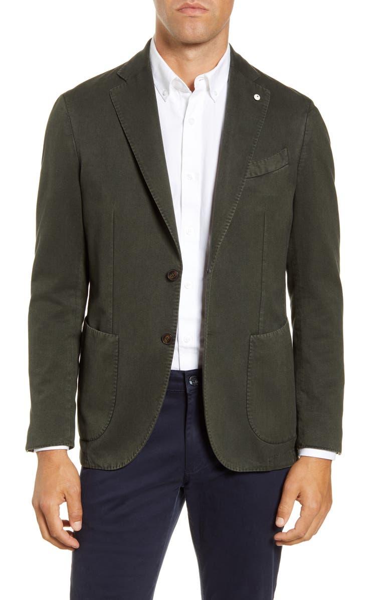 L.B.M. 1911 L.B.M 1911 Trim Fit Twill Cotton Sport Coat, Main, color, 301
