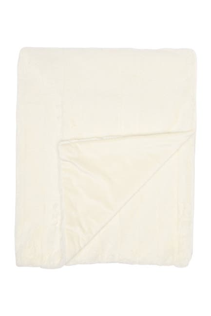 Image of Nordstrom at Home Sheared Stripe Plush Throw