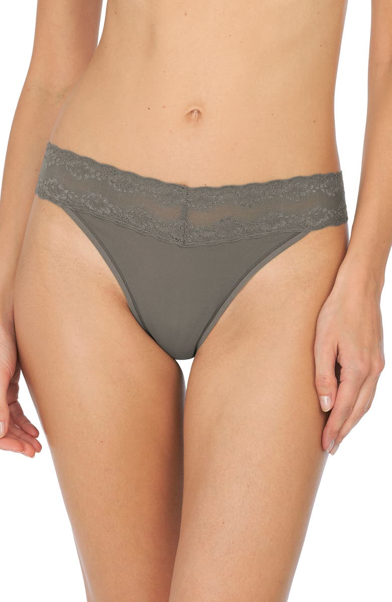 NATORI Bliss Perfection Thong, Main, color, STEEL