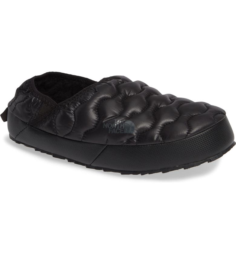 THE NORTH FACE Thermoball<sup>™</sup> Water Resistant Traction Mule, Main, color, SHINY BLACK/ BELUGA GREY