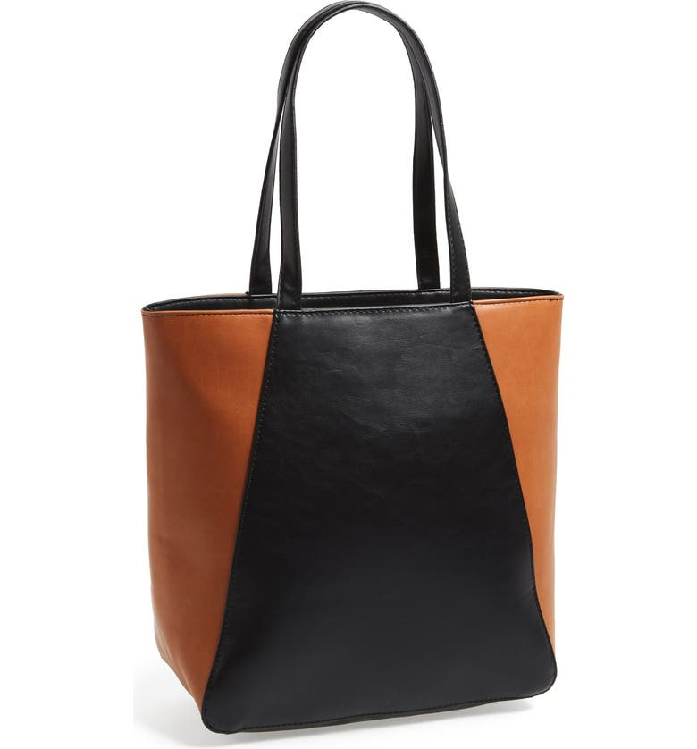 SOLE SOCIETY Faux Leather Tote, Main, color, 001