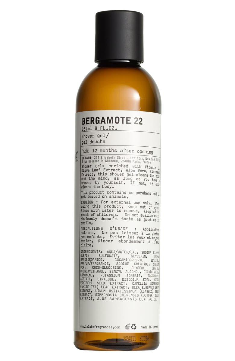 LE LABO 'Bergamote 22' Shower Gel, Main, color, 000