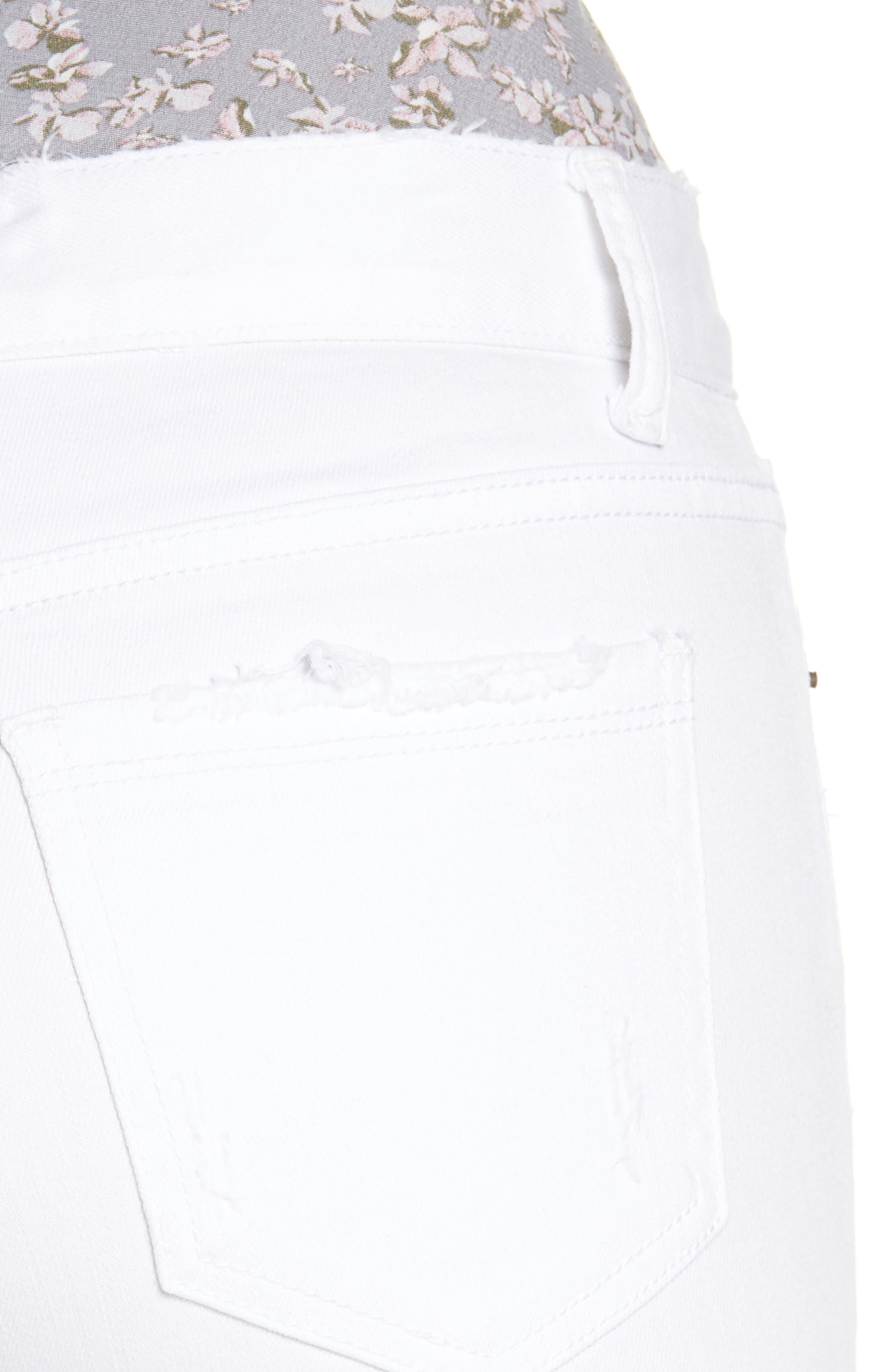,                             Frayed Hem High Rise Crop Jeans,                             Alternate thumbnail 10, color,                             100