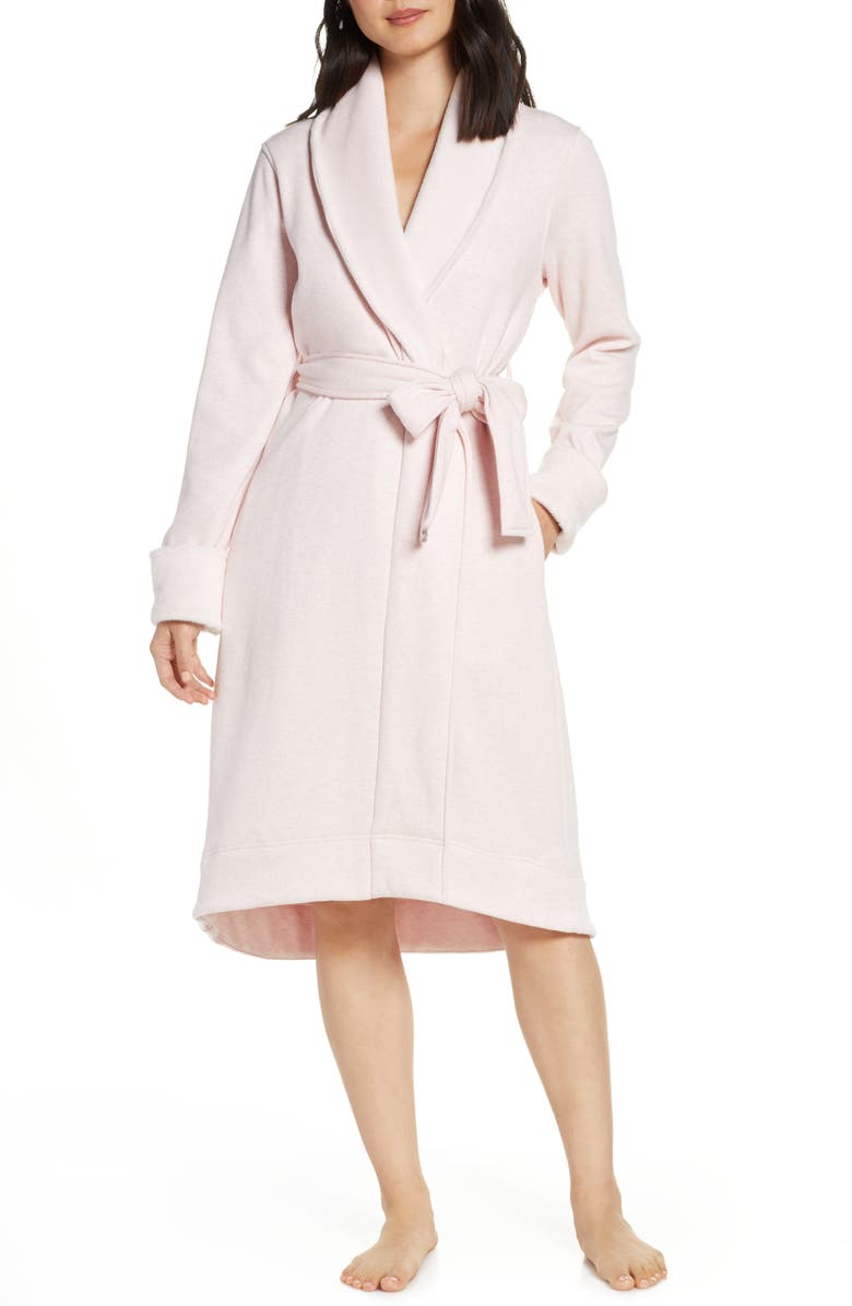 UGG<SUP>®</SUP> Duffield II Robe, Main, color, SEASHELL PINK HEATHER