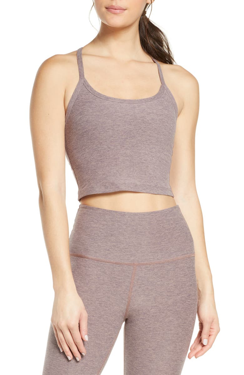 BEYOND YOGA Space Dye Crop Tank, Main, color, DUSTY MAUVE LILAC LUSTER