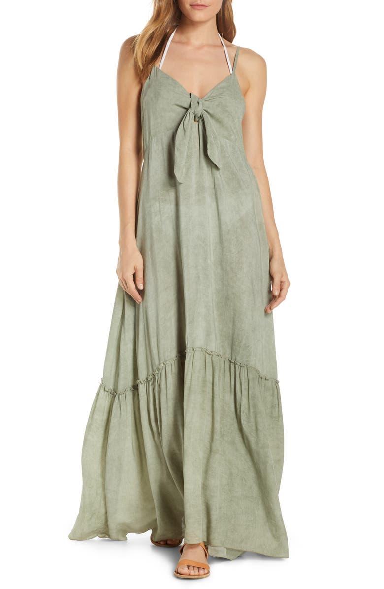 ELAN Maxi Cover-Up Dress, Main, color, SAGE