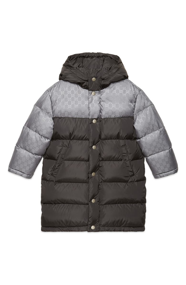 GUCCI Quilted Nylon Jacket, Main, color, STEEL/ CATHEDRAL GREY