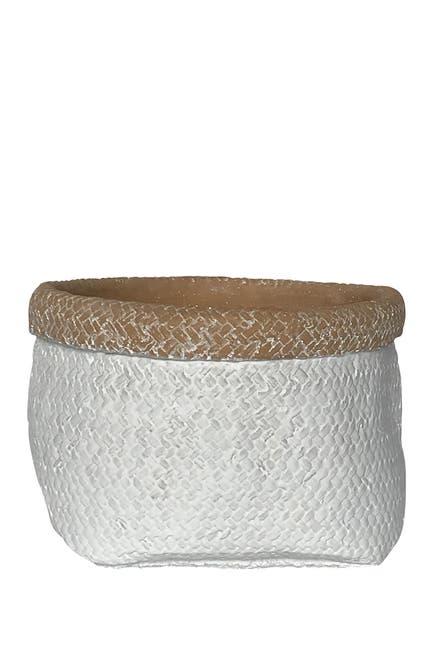 Image of Drew Derose Designs Textured Cement Pot