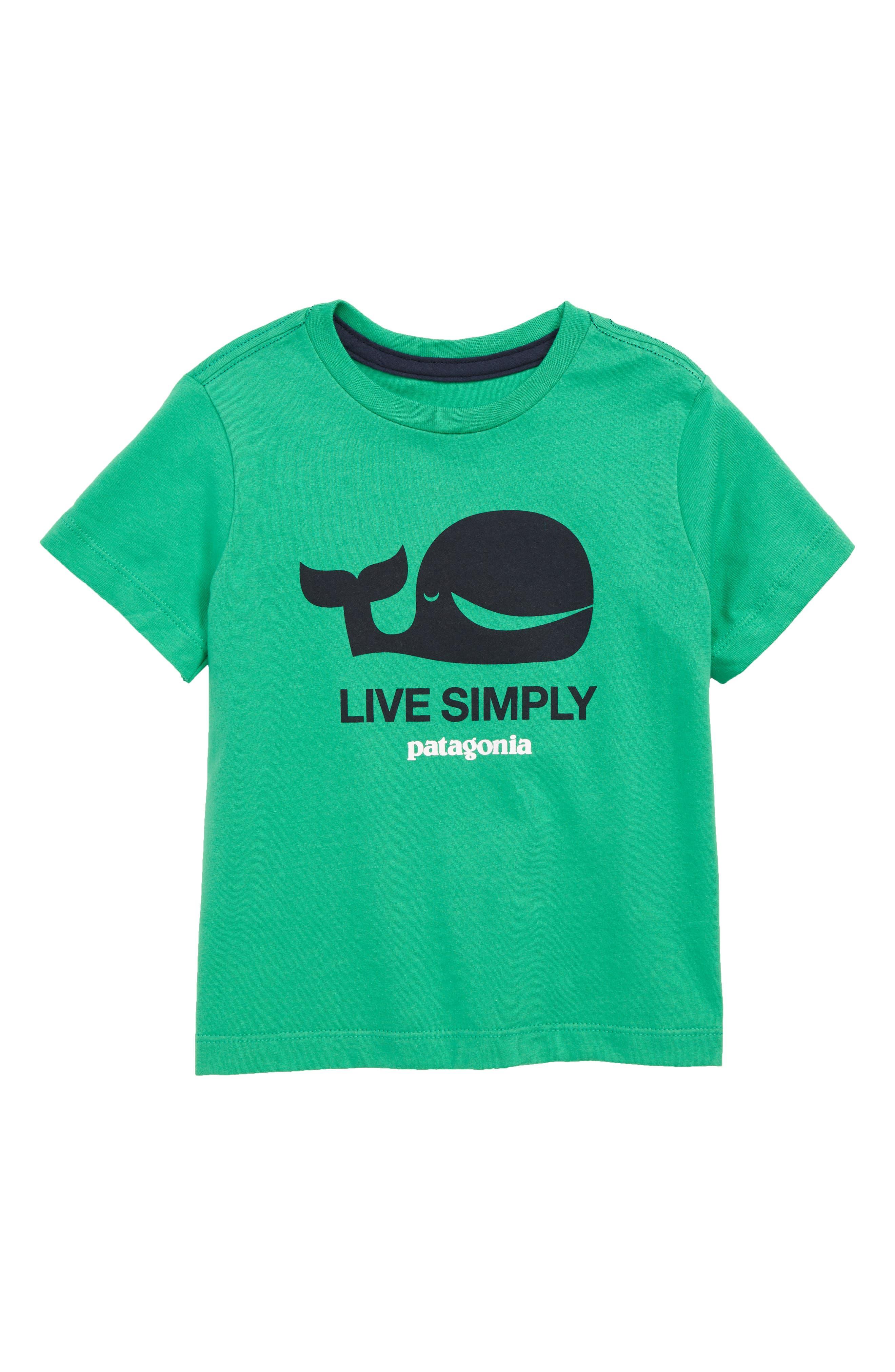 ,                             Live Simply Graphic Organic Cotton T-Shirt,                             Main thumbnail 1, color,                             LSNE SIMPY WHALE NET GREEN