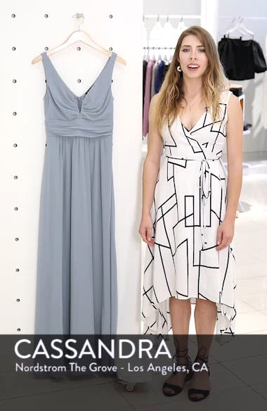 V-Neck Chiffon A-Line Gown, sales video thumbnail