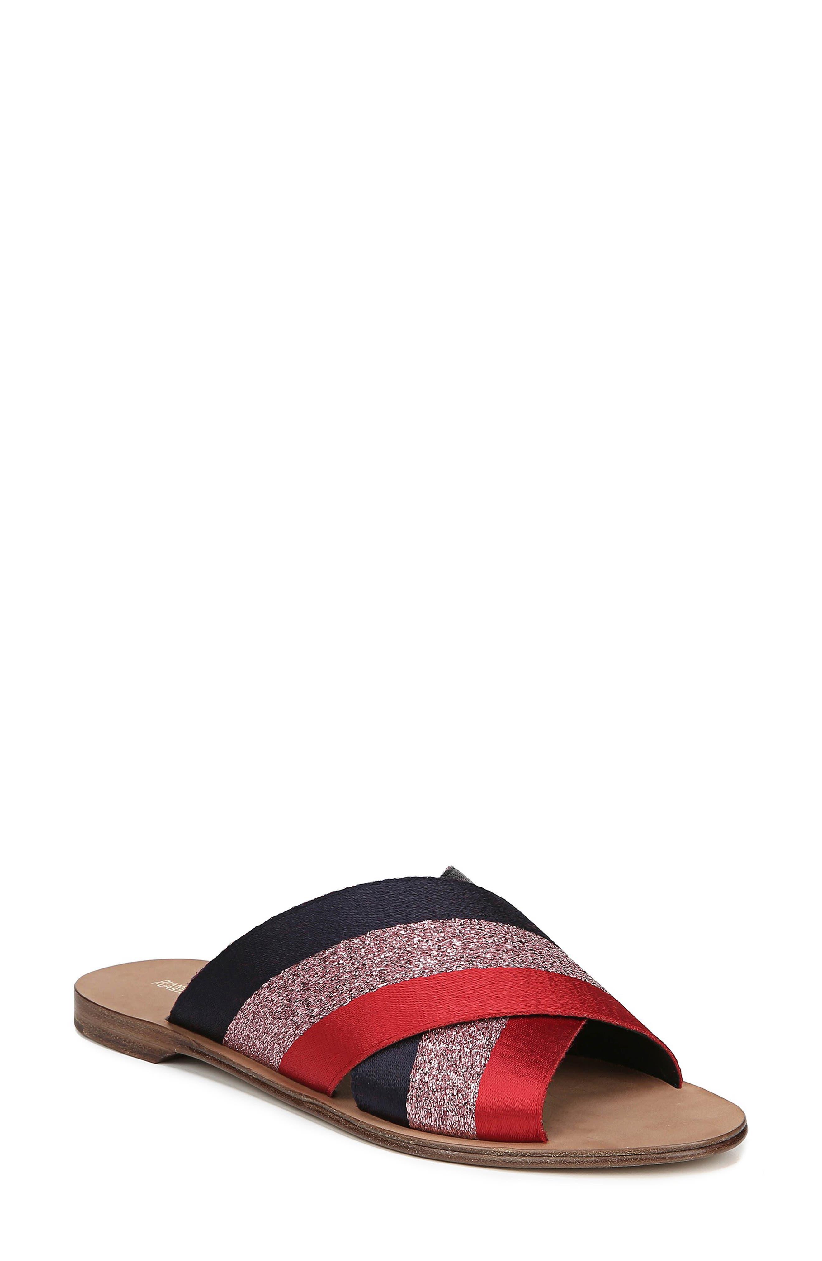 Diane Von Furstenberg Bailie Sandal- Red