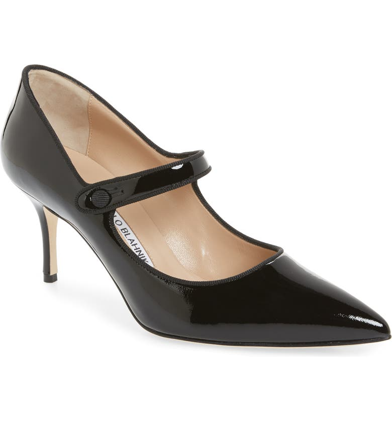 MANOLO BLAHNIK Campari Mary Jane Pump, Main, color, BLACK PATENT