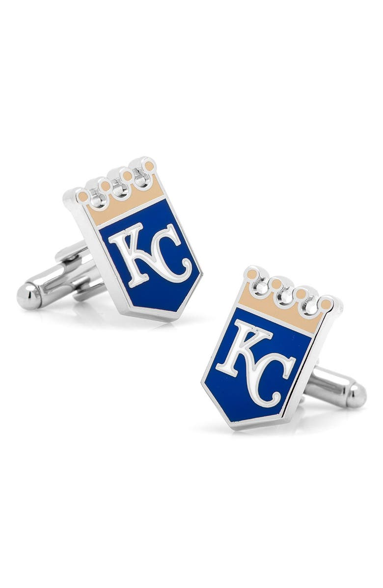 CUFFLINKS, INC. 'Kansas City Royals' Cuff Links, Main, color, 040