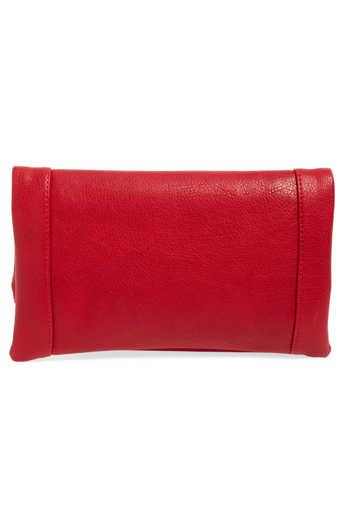 ,                             Marlena Faux Leather Foldover Clutch,                             Alternate thumbnail 73, color,                             600