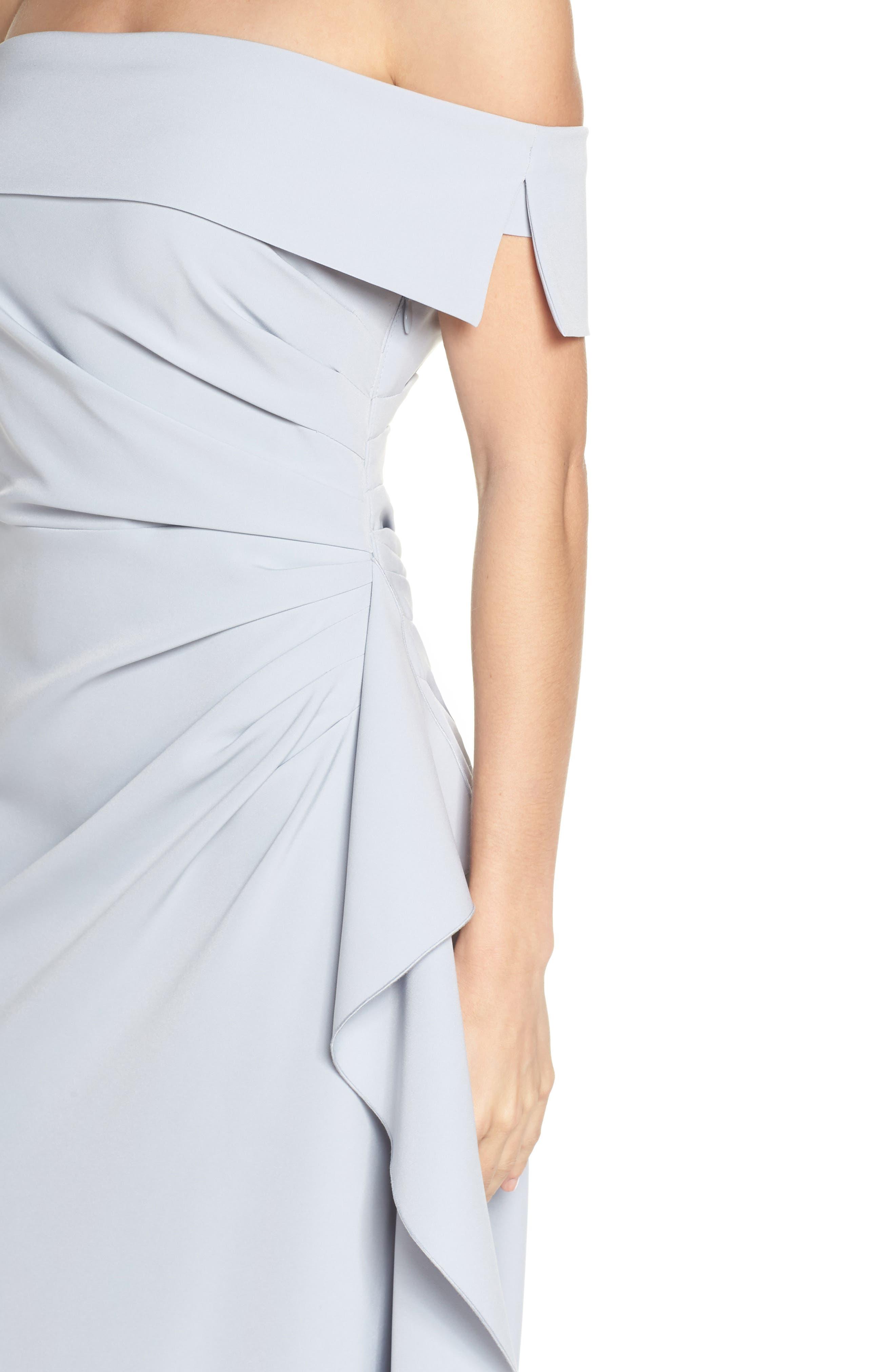 ,                             Off the Shoulder Crepe Gown,                             Alternate thumbnail 26, color,                             450