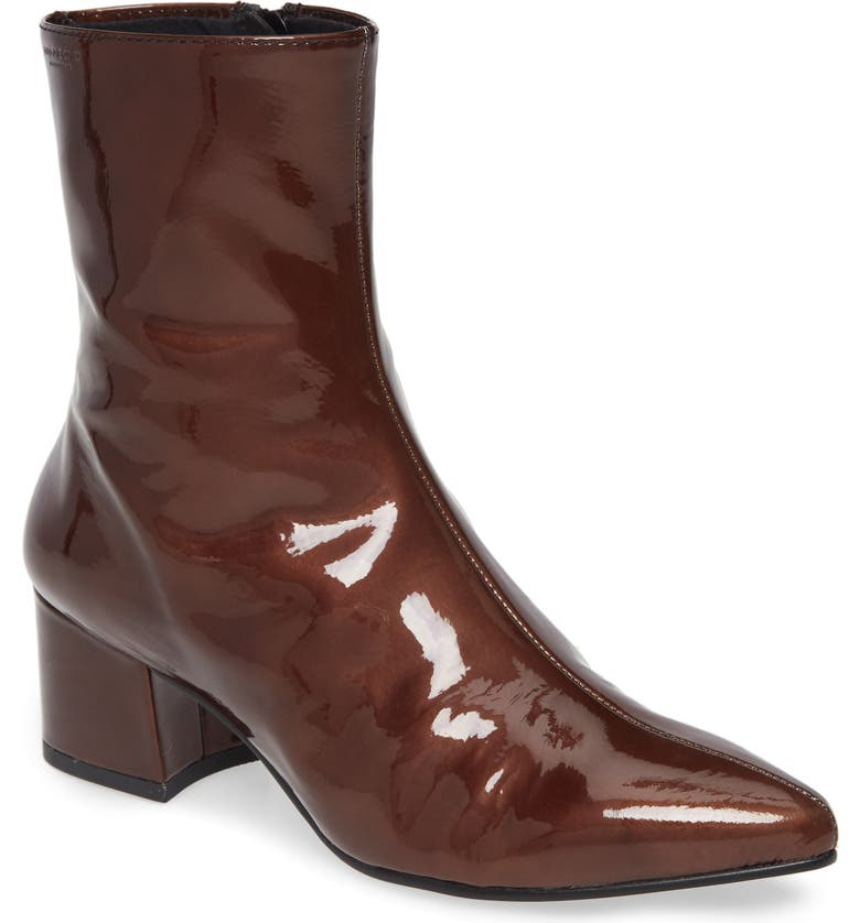 VAGABOND SHOEMAKERS Mya Pointy Toe Bootie, Main, color, BROWN LEATHER