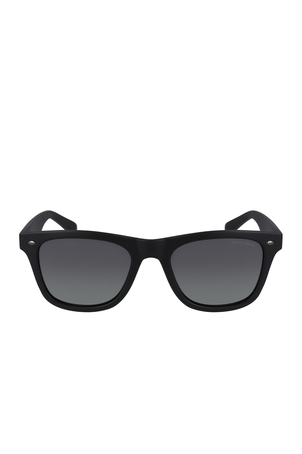 Image of Cole Haan 51mm Polarized Retro Sunglasses