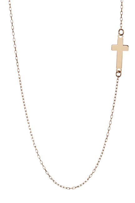 Image of KARAT RUSH 14K Yellow Gold Cross Necklace