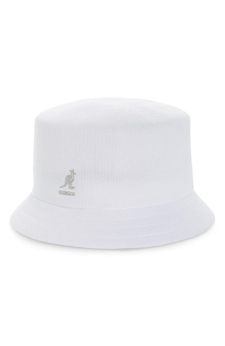 KANGOL Tropic Bucket Hat, Main, color, WHITE