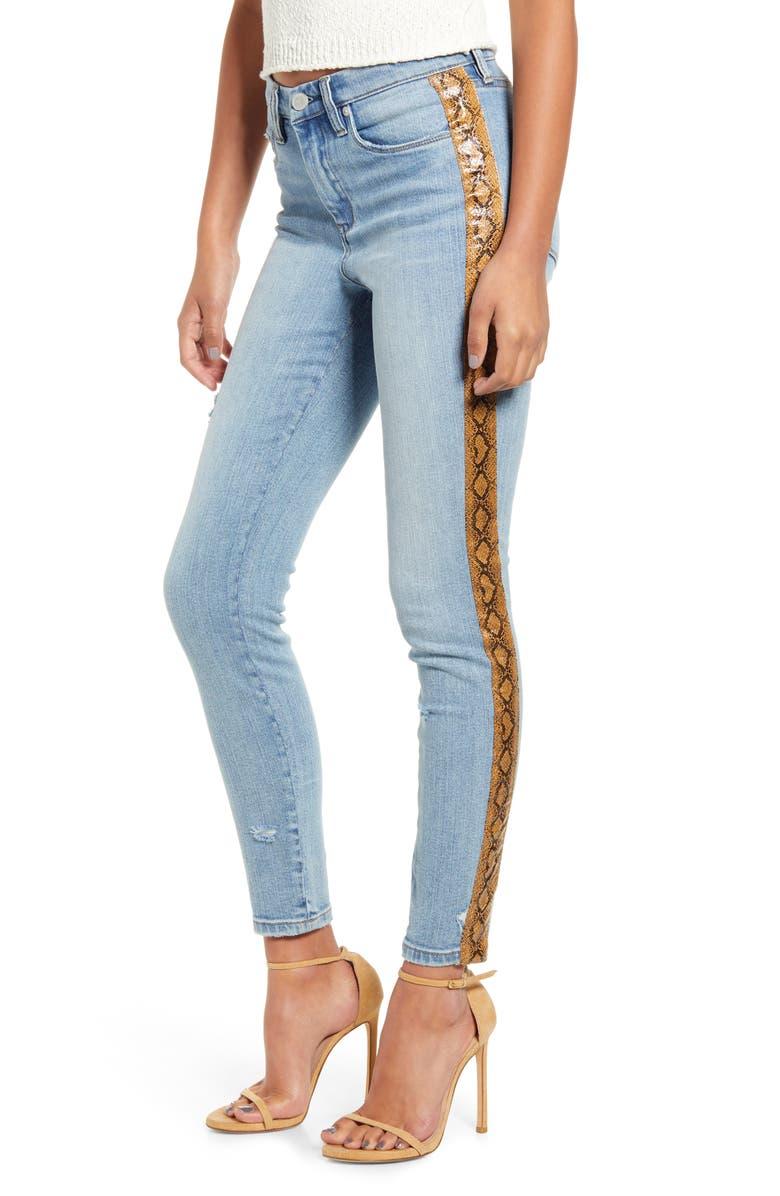 BLANKNYC The Bond Snake Stripe Skinny Jeans, Main, color, MS. BRIGHTSIDE