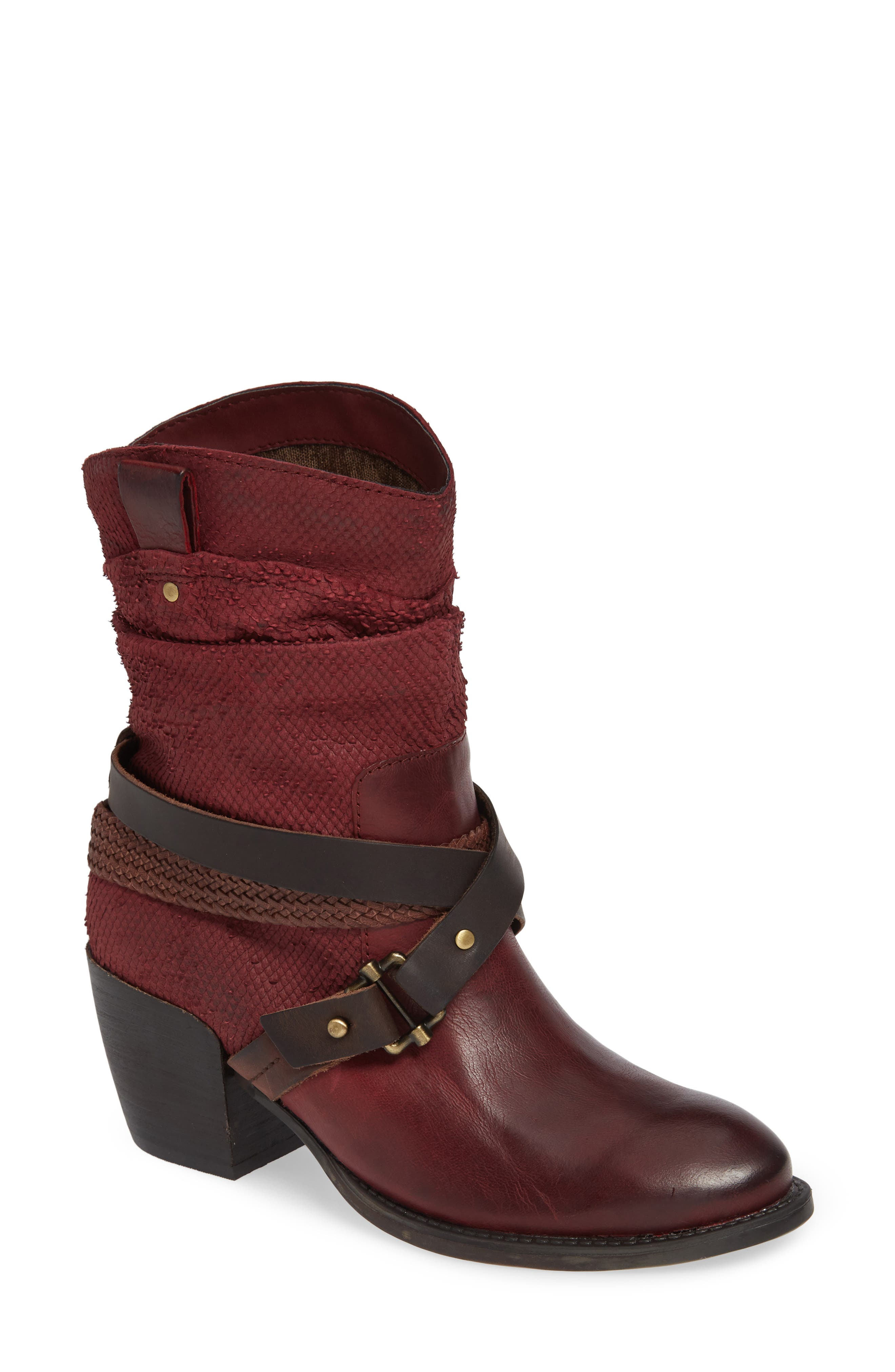 Otbt Hay Ride Bootie- Red