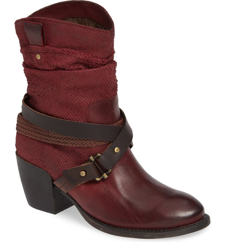 OTBT Hay Ride Bootie, Main, color, NEW RED LEATHER