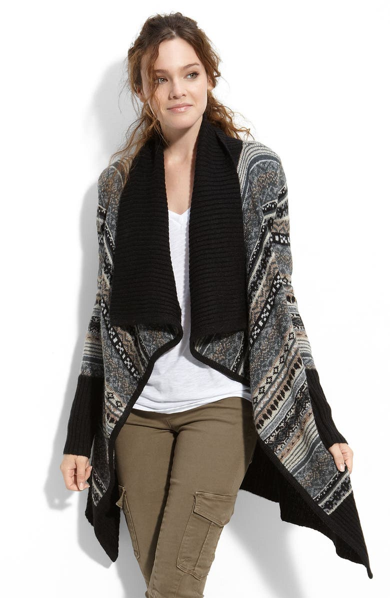 KENSIE 'Nomad' Shawl Collar Cardigan, Main, color, 006