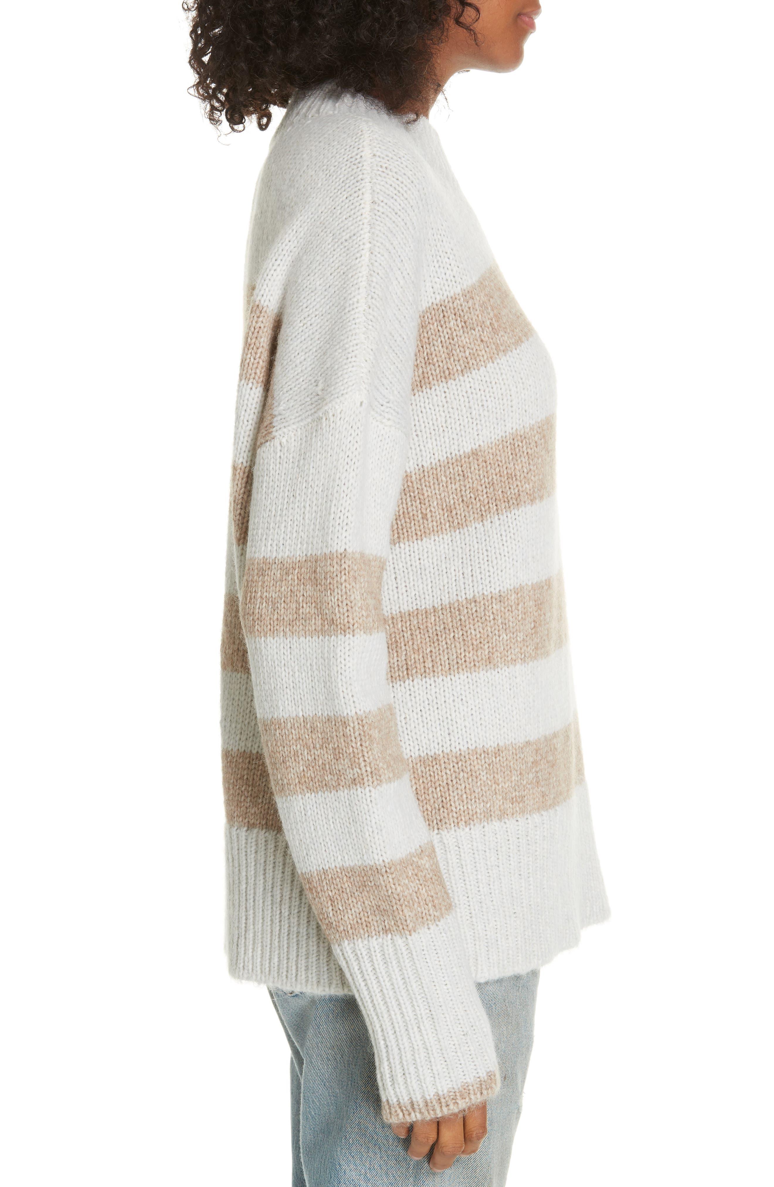 ,                             Soft Bold Marin Sweater,                             Alternate thumbnail 3, color,                             CREAM/ BEIGE