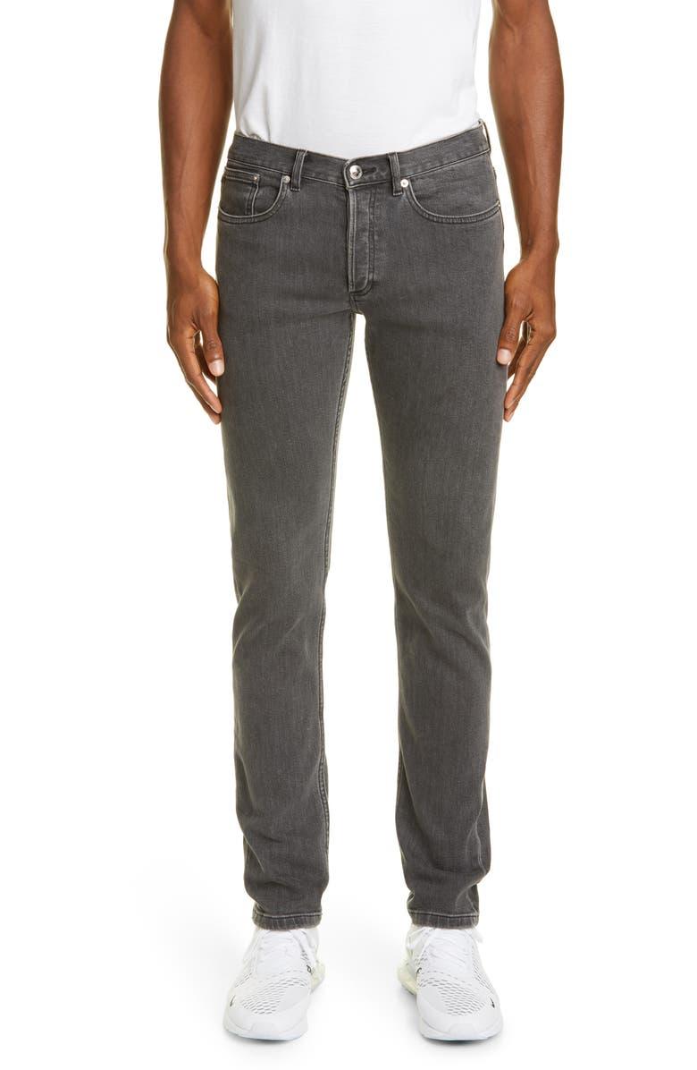 A.P.C. Petit New Standard Skinny Fit Jeans, Main, color, GRIS
