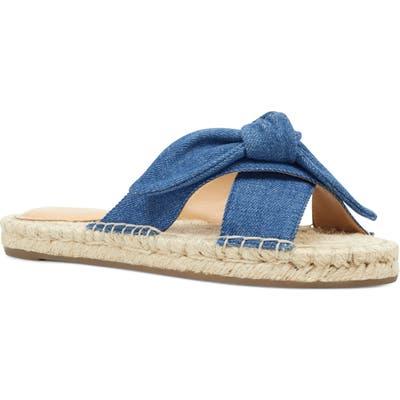 Nine West Brielle Espadrille Slide Sandal- Blue