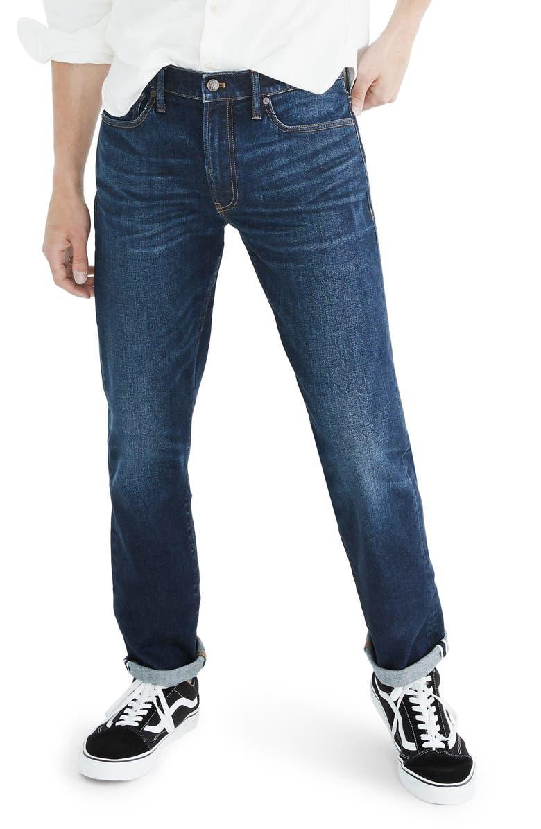 MADEWELL Selvedge Straight Jeans, Main, color, ALDERCREEK