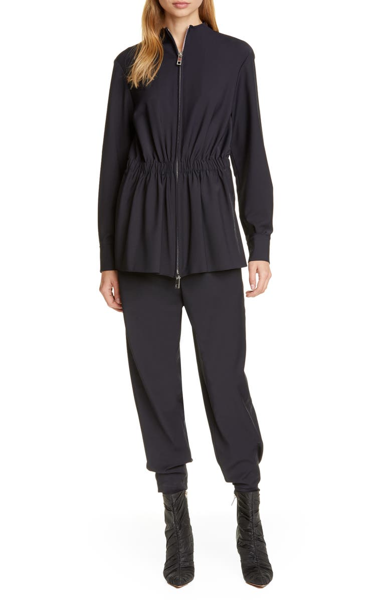 TIBI Double Layered Long Sleeve Jumpsuit, Main, color, 416