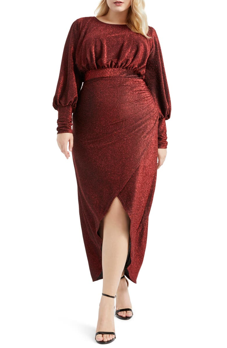 Long Sleeve Sparkle Maxi Dress