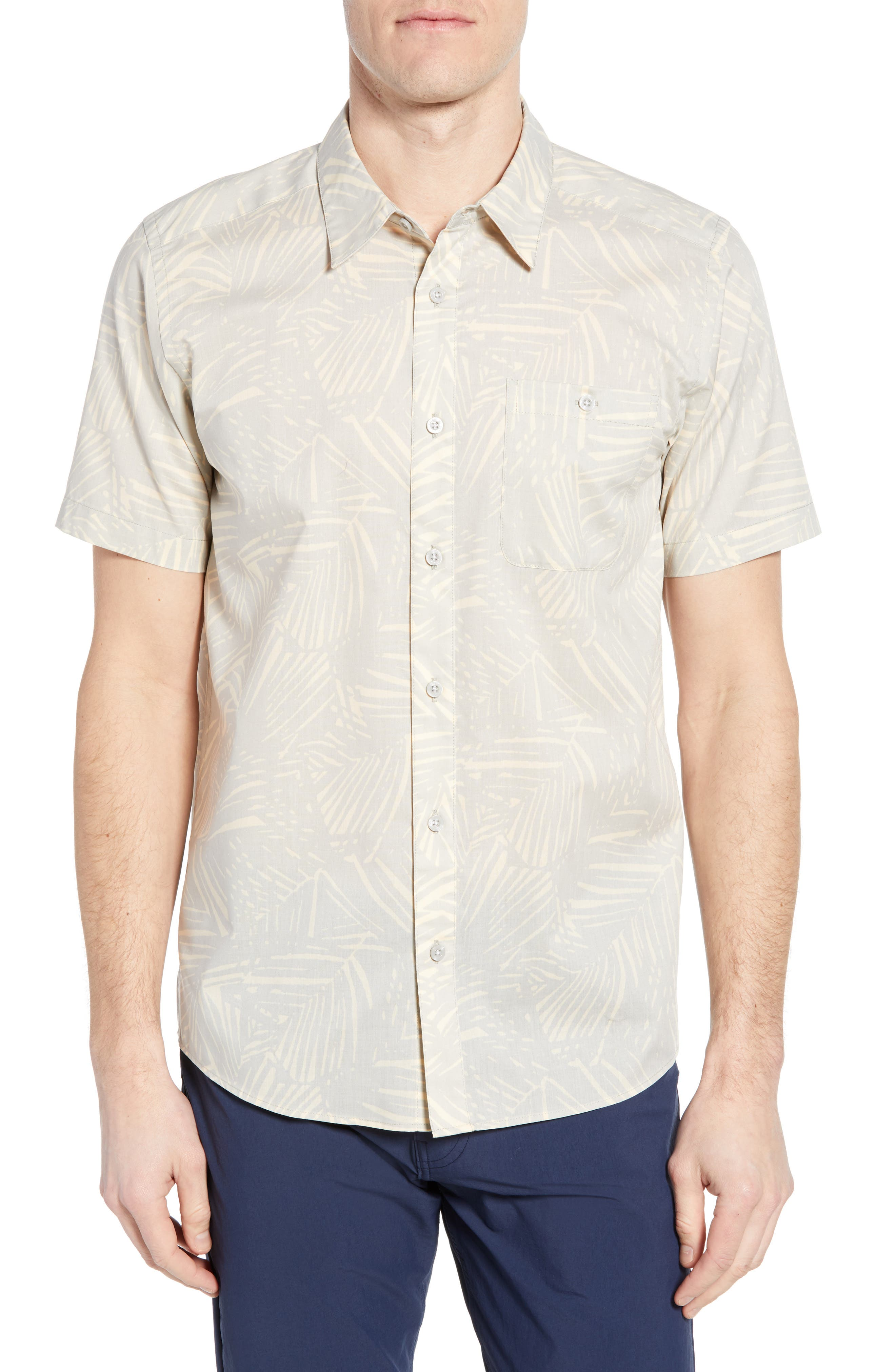 Patagonia Go To Regular Fit Short Sleeve Sport Shirt, Grey