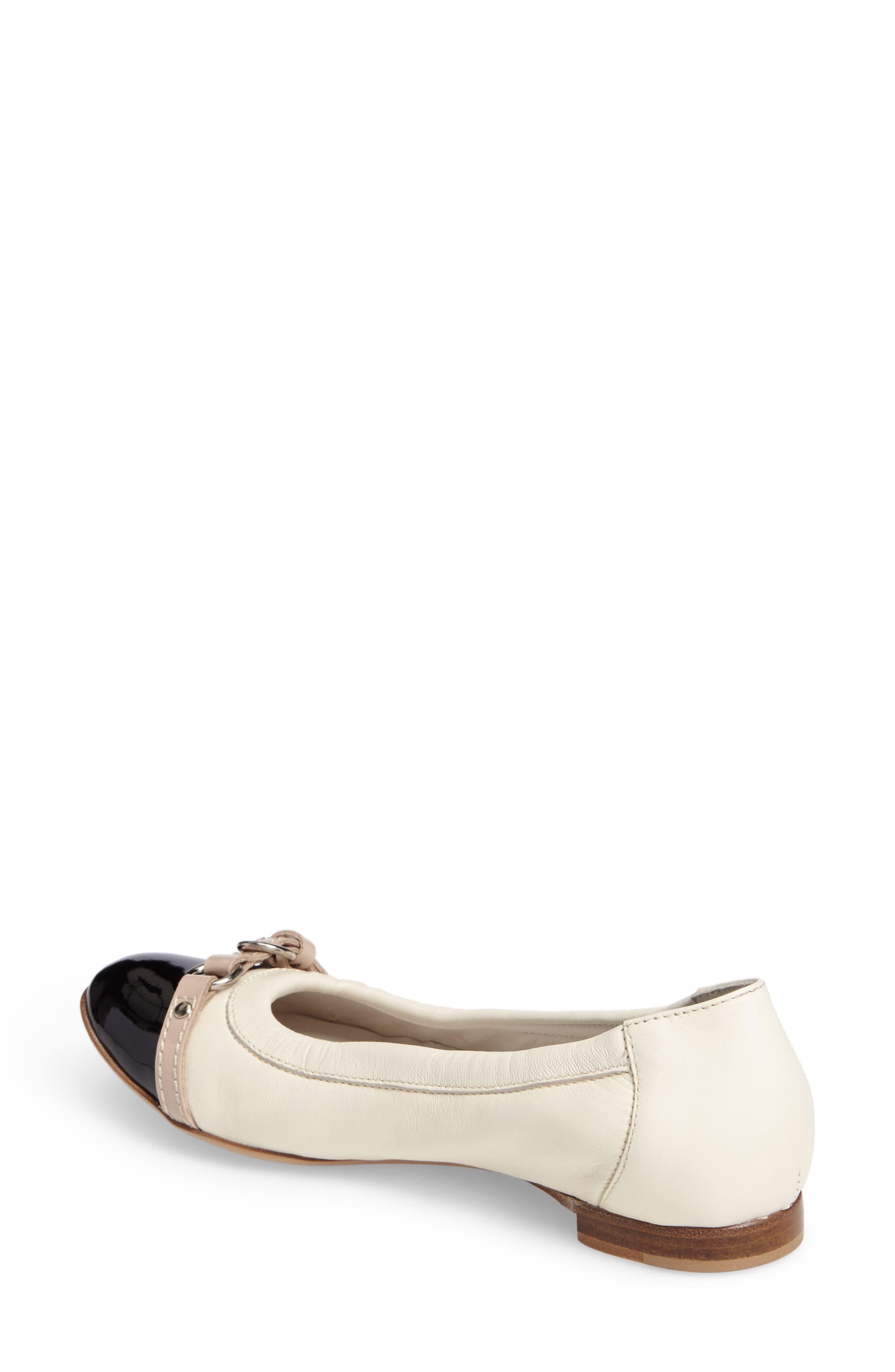 ,                             Cap Toe Ballet Flat,                             Alternate thumbnail 308, color,                             900