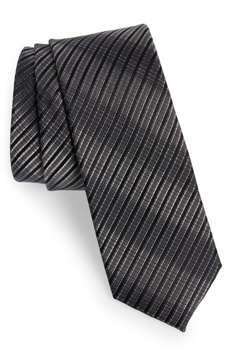 CALIBRATE Aurora Plaid Silk Tie, Main, color, 010