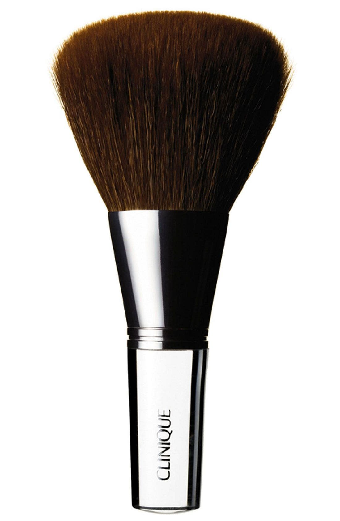 The perfect partner for powder, the Bronzer/Blender Brush is great for blending and highlighting. Unique antibacterial technology ensures a high level of hygiene. How to use: Dip or swirl into powder and tap off excess. Sweep lightly all over your face or wherever the sun might naturally bronze- Allergy tested. Style Name: Clinique Bronzer/blender Brush. Style Number: 162014. Available in stores.