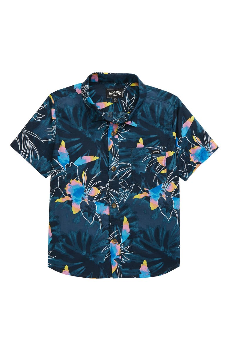 BILLABONG Sundays Floral Print Button-Up Shirt, Main, color, 415