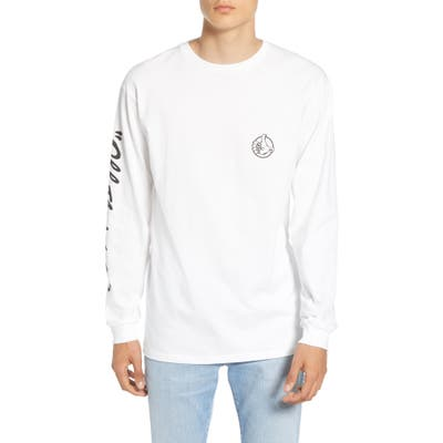 Vans Off The Wall Long Sleeve T-Shirt, White