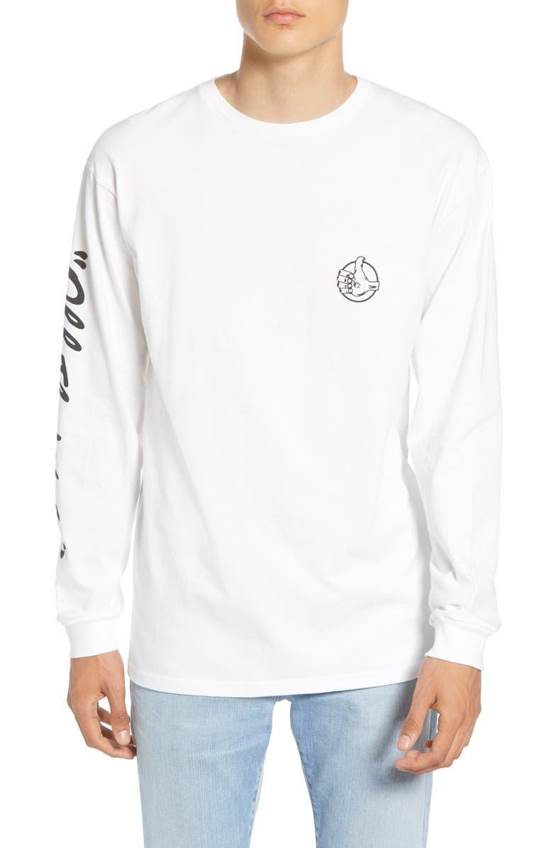 VANS Off the Wall Long Sleeve T-Shirt, Main, color, 100