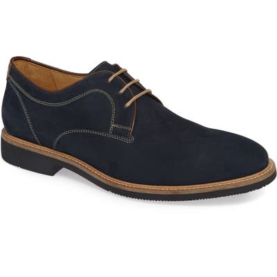 Johnston & Murphy Barlow Plain Toe Derby- Blue