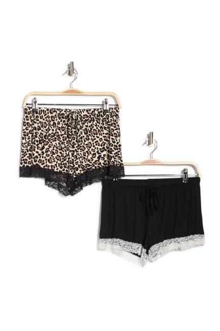 Image of Blis Lace Trim Pajama Shorts - Pack of 2