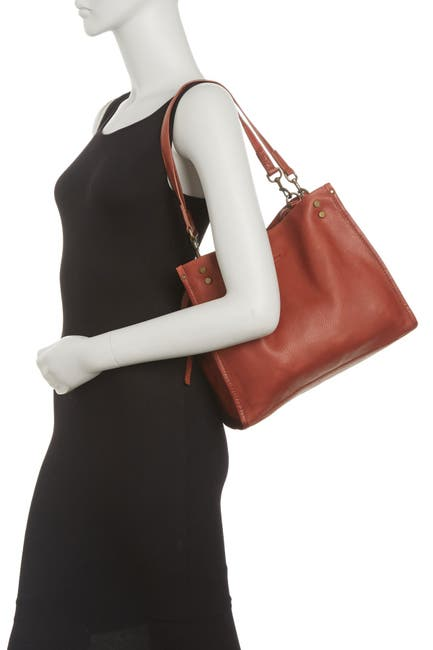 Image of AMERICAN LEATHER CO. Lenox Leather Satchel