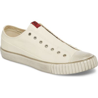 Bootleg By John Varvatos Laceless Low Top Sneaker, White