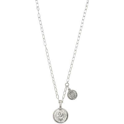 Ettika Double Coin Pendant Necklace