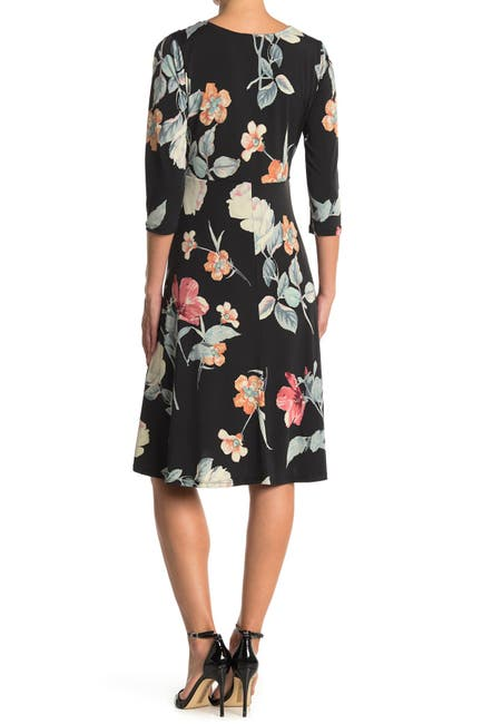 Image of WEST KEI Floral Print Twist Front Dress