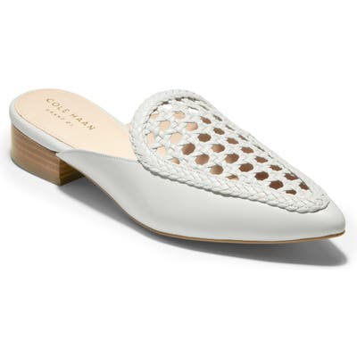 Cole Haan Payson Woven Mule, White