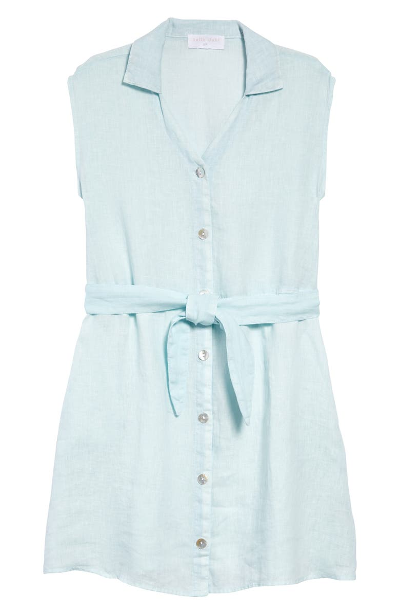 BELLA DAHL Belted Linen Shirtdress, Main, color, 400